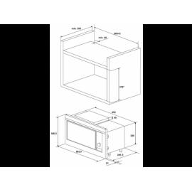 BEKO MOB-20231 BG - 20 Liter Gyári Csomagolt Beép. Mikrohullámú Sütő ⭐
