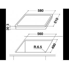 WHIRLPOOL AKR 350 IX beépíthető Gyári csomagolt gázfőzőlap