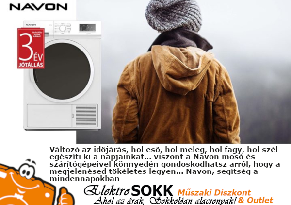 Navon Mosógép & Szárítógép Hírdetés